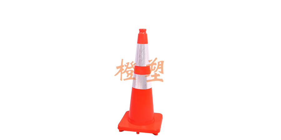 70CM integrated PVC flexible road cone-1